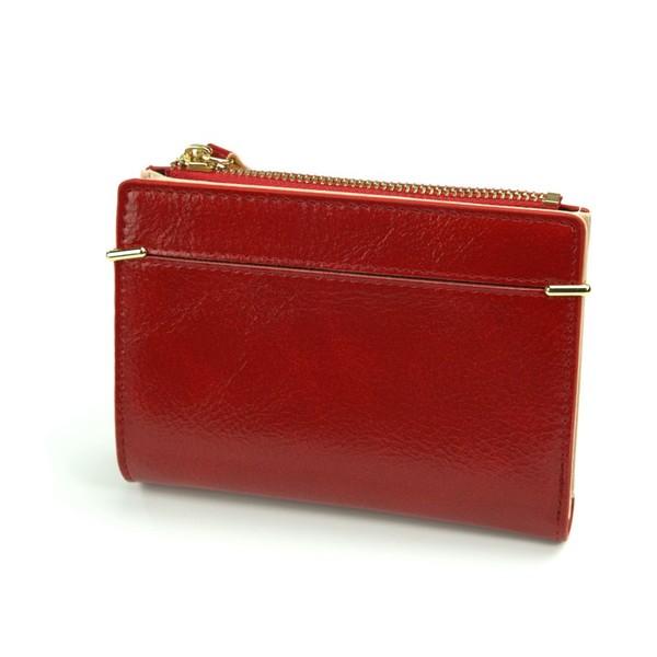 Dámská Kožená Malá Peněženka Červená MILANO DESIGN K1208