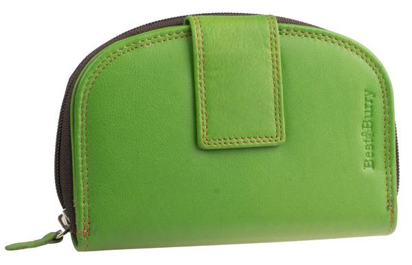 Dámská luxusní kožená peněženka zelená na výšku Best Burry