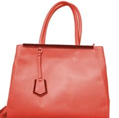 Dámská kabelka kožená kabelka Made in Italy červená