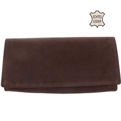 Dámská kožená velká peněženka hnědá