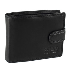 Pánská Kožená Peněženka Černá C-5700-L-BL