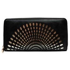 Dámská velká peněženka na zip černá Cavaldi YYXB-04