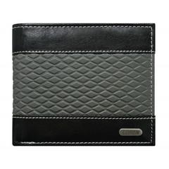 Pánská černá kožená peněženka LOREN RFID N992-DDG-bl-gr