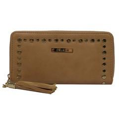 Dámská velká peněženka na zip hnědá Cavaldi YYXB-01