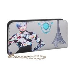 Velká dámská peněženka Pařížská dáma se šperky