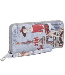 Galanto velká stylová peněženka London šedá s rukojetí