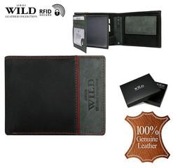 Pánská černá kožená peněženka ALWAYS WILD N992-SHS