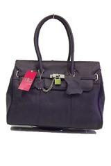 Dámská kožená kabelka Marc Chantal tmavě fialová