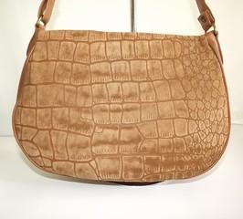 Dámská kabelka kožená s krokodýlím motivem Marc Chantal béžová