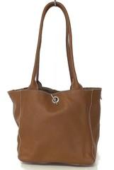 Made in Italy dámská italská kabelka kožená hnědá a koňaková 2 v 1