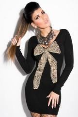 Pletené dámské šaty Černé KouCla