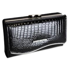 Jennifer Jones dámská peněženka kožená černá 5245-2 BLACK