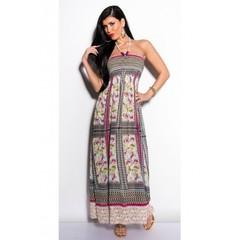 Letní dlouhé dámské šaty fialové