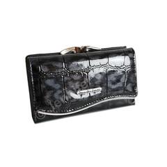 Jennifer Jones Dámská Peněženka Kožená Černá 5245-3 BLACK
