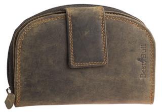 Dámská luxusní kožená peněženka hnědá na výšku Best Burry
