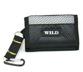 Sportovní malá látková peněženka černá WILD