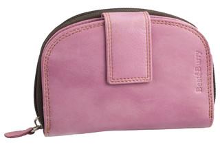 Dámská luxusní kožená peněženka růžová na výšku Best Burry