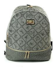 Dámský luxusní batoh šedý italský Giulia Pieralli