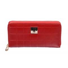 Dámská kožená červená peněženka na zip Cavaldi SF-1701