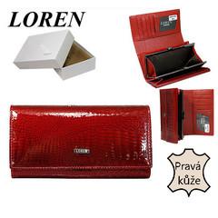Loren Dámská kožená peněženka červená velká 64003-RS RED FK