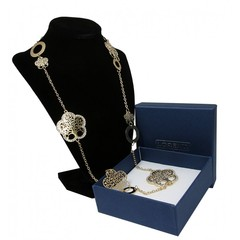 Masivní náhrdelník zlatý strom života s kamínky Lorenti